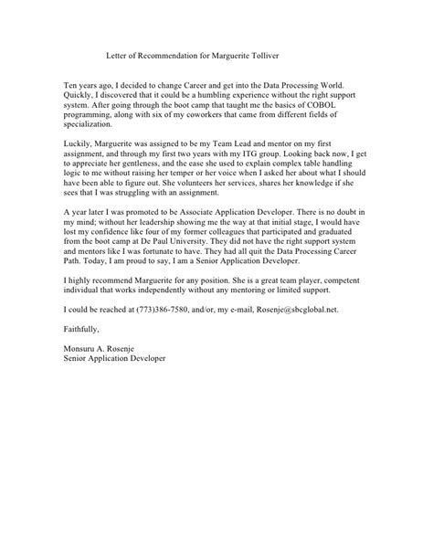co worker letter of recommendation sle best template collection