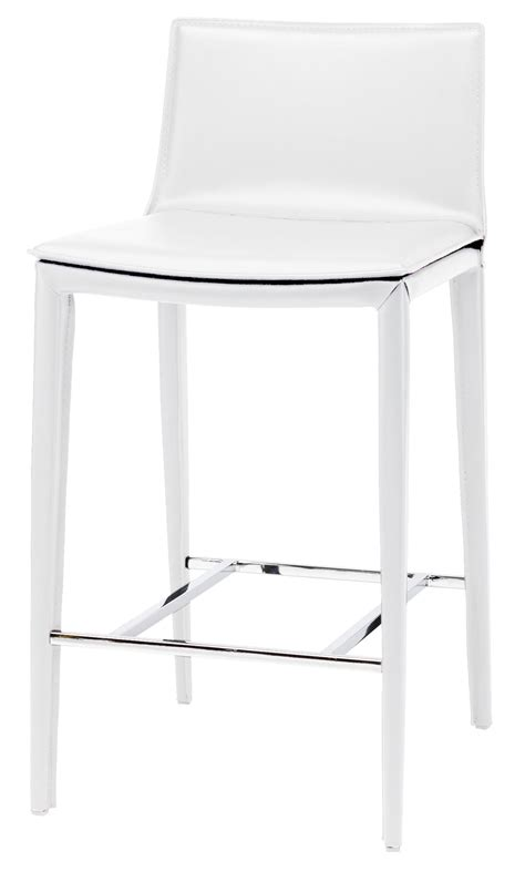 Nuevo Palma Counter Stool by Palma White Leather Counter Stool From Nuevo Coleman