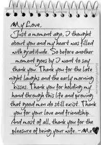 Thank You Letter Wife letters to my wife thank you for the pleasure of being your wife