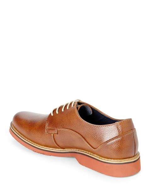 joseph abboud oxford shoes joseph abboud cognac joshua oxfords in brown for lyst