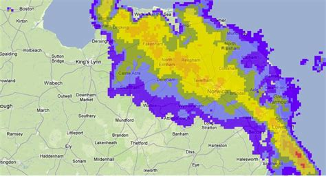 On Our Radar Be A At The Met by Radar Image Showing The Snow Anglia Itv News