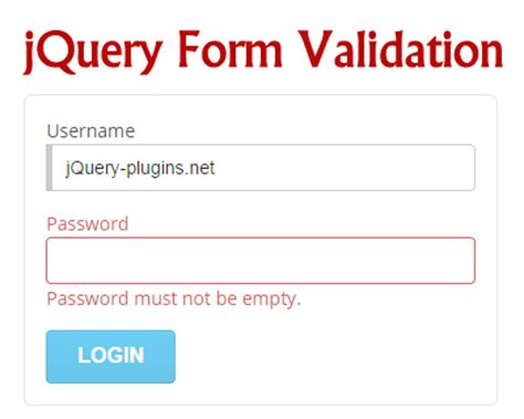 jquery tutorial for validation jquery form validation jquery plugins