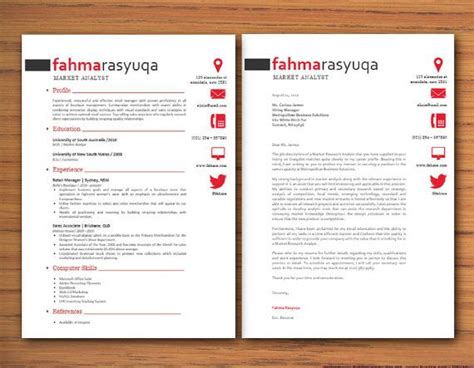 modern cover letter template modern microsoft word resume and cover letter template