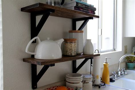 diy kitchen shelves diy kitchen shelves the style eater