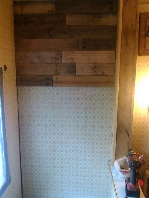 Pallet Wall Bathroom Bathroom Wall With Pallet Wood