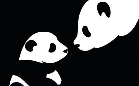 wallpaper black and white panda cartoon panda wallpapers wallpaper cave