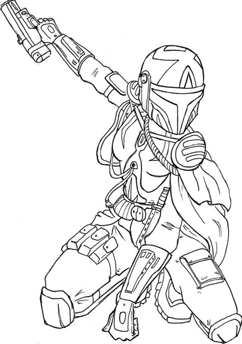 mandalorian armor coloring pages