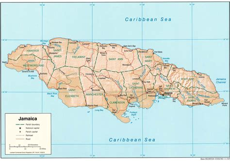 sketch map of jamaica mapa relieve sombreado de jamaica mapa owje
