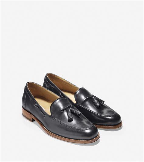 belgian loafers cole haan brady belgian tassel loafer in black for lyst