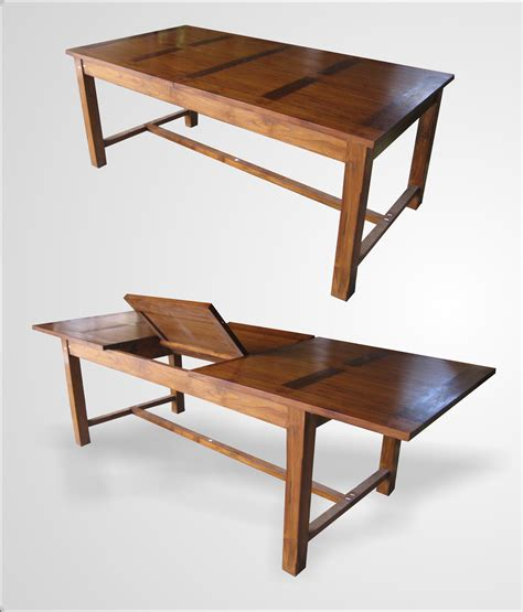 Indoor Teak Dining Table Dining Table Single Ext Indoor Teak Furniture