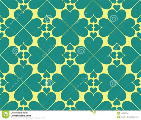 Till And Yellow Heart Pattern Stock Image - Illustration ... Yellow Hearts Wallpaper