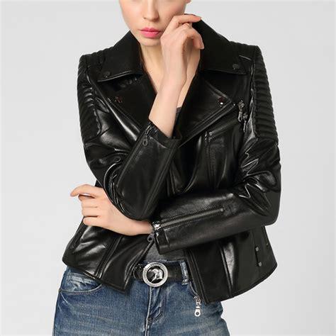 black leather womens womens black leather moto jacket cw650016