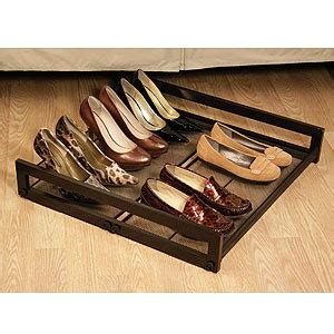 under the bed shoe rack awesome under bed shoe storage for the home pinterest