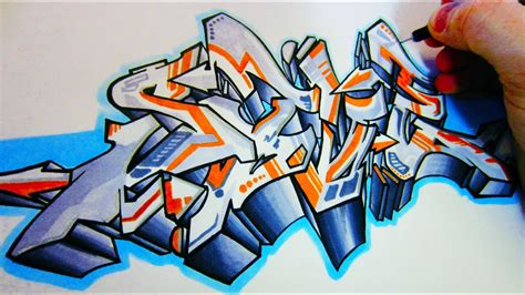 robotic graffiti blackbook piece youtube
