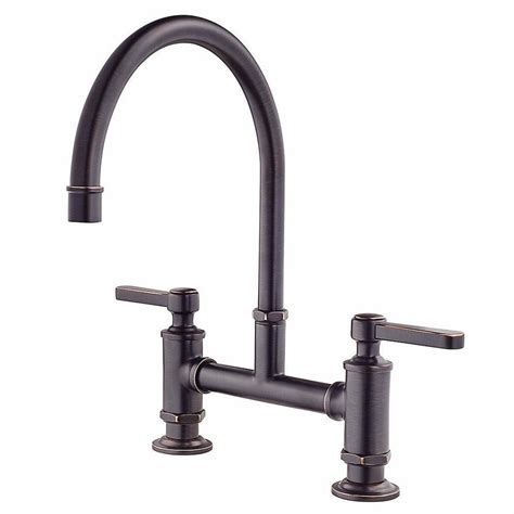 Deck Mount Kitchen Faucet Shop Pfister Port Tuscan Bronze 2 Handle Deck Mount High Arc Kitchen Faucet At Lowes