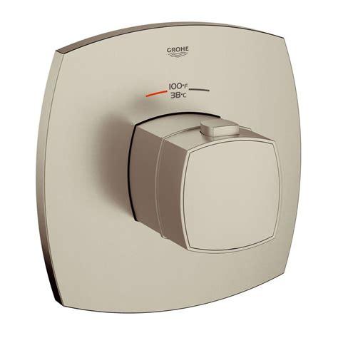 shop grohe grandera brushed nickel infinity 1 handle freestanding bathtub faucet at lowes com grohe grandera grohflex single handle thermostatic valve