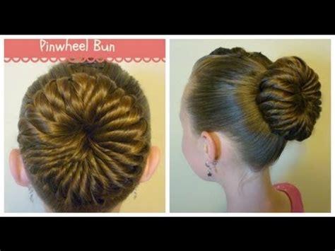 short hair gymnastics style pinwheel bun hairstyle unique ballerina bun youtube
