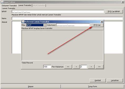 tutorial penggunaan e faktur aplikasi program e faktur rekam faktur pajak elektronik
