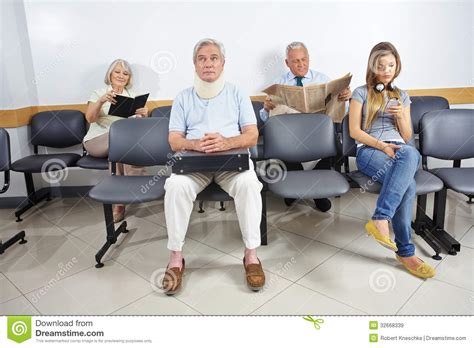 in waiting room of a hospital royalty free stock
