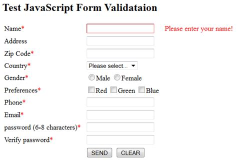 html format validator javascript and jquery by exles