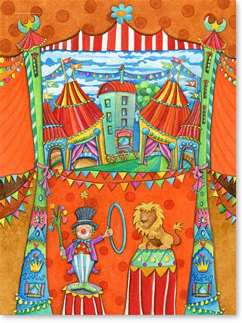 bilder kinderzimmer zirkus zirkus kupus serie aquarellbilder motive f 252 rs kinderzimmer
