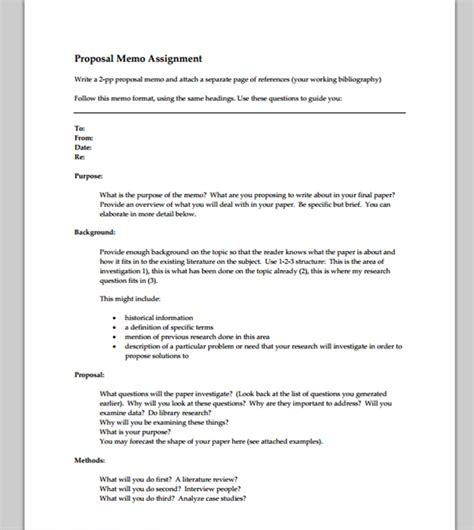 Memo Format Proposal Exle | memo template for proposal format of proposal memo