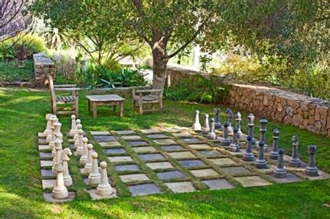 outdoor chess set for the home