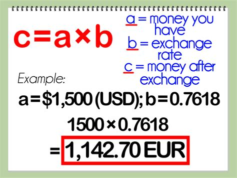 currency converter formula 3 easy ways to calculate exchange rate wikihow