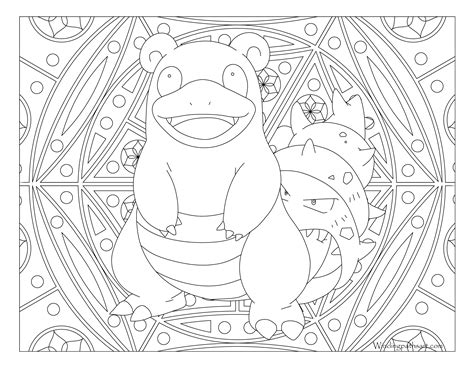 town coloring book stress relieving coloring pages coloring book for relaxation volume 4 books 080 slowbro coloring page 183 windingpathsart