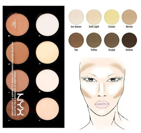 Nyx Contour Kit nyx cosmetics highlight contour pro palette makeup