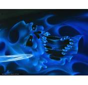 Download Wallpaper Skull Smoke Blue Free Desktop