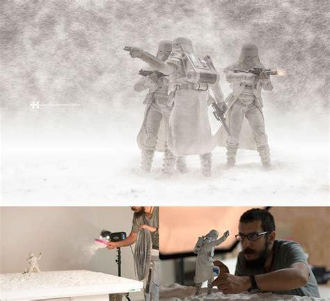 Kipas Salju foto taburan tepung dari kipas angin cukup lho untuk bikin