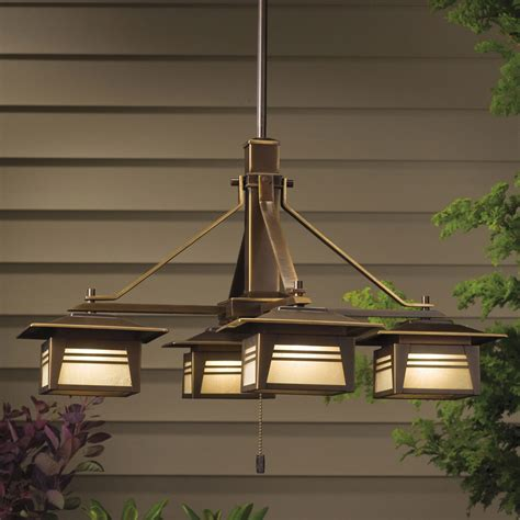 chandelier outdoor kichler 15409oz zen garden 12v outdoor chandelier