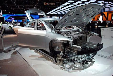 Tesla Aluminum Tesla Showcases Model S Alpha Aluminum Frame 2011