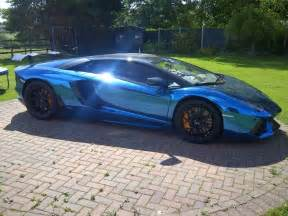 Blue Chrome Lamborghini Aventador Lamborghini Aventador Blue Chrome Cars Bikes