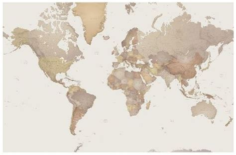 world map wall world map mural p111501 0 mr perswall wallpapers a photo mural of a size sepia toned