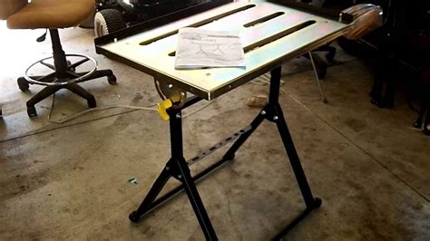 harbor freight work table harbor freight adjustable welding table