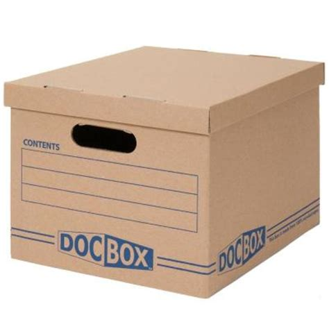 home depot wardrobe boxes doc box 10 in x 12 in x 15 in document storage boxes