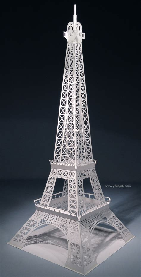 paris pattern works the eiffel tower pop up card origami architecture kirigami