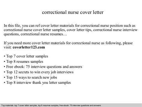 Prison Cover Letter by Correctional Cover Letter
