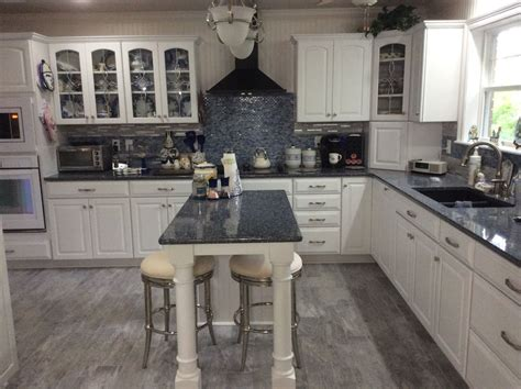 gray kitchen cabinets white floor blue and white kitchen cambria quartz countertop parys