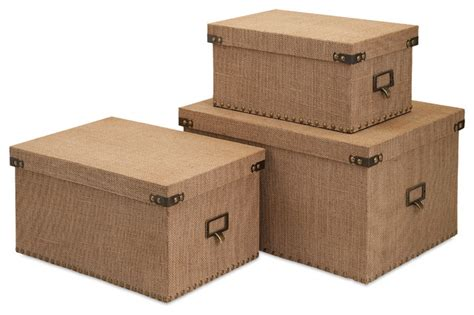 corbin storage boxes set of 3 transitional decorative
