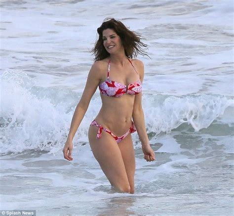 stephanie seymour in a floral st barts december