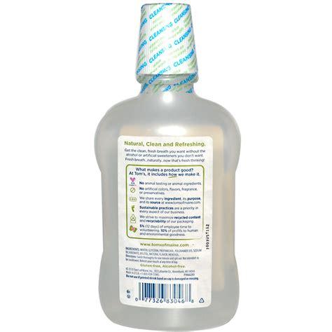 Detox Mouthwash Australia by Tom S Of Maine Free Baking Soda Mouthwash