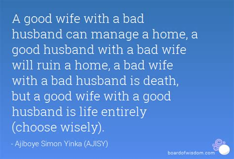 quotes about bad wives