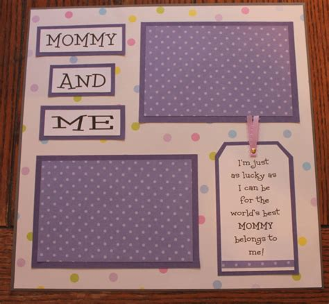 Handmade Baby Book Ideas - 1 premade handmade 12 x 12 and me scrapbook page