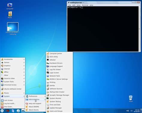 7 Reasons I Like Ubuntu by Make Ubuntu Look Exactly Like Windows 7 Lucid Maverick