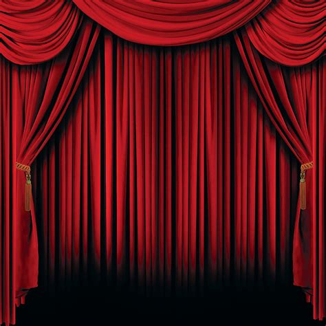 red curtain theatre red curtain backdrop banner oriental trading