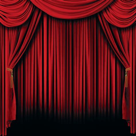 Red Curtain 6 Ft. by 6 Ft. Backdrop Party Supplies Canada