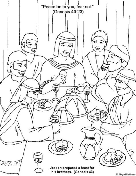 coloring sheets for joseph joseph forgives his brothers coloring page coloring home